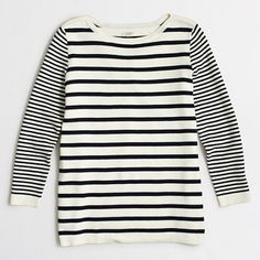 J.Crew Factory - Factory mixed-stripe sweater $55.50