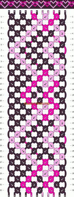 Normal Friendship Bracelet Pattern #12864 - BraceletBook.com