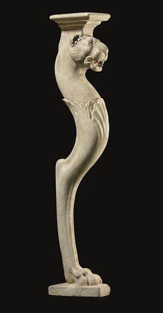 A FRAGMENTARY ROMAN MARBLE TABLE LEG - CIRCA 1ST CENTURY A.D.