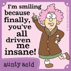 Aunty Acid Comic Strip, March 11, 2014 on GoComics.com