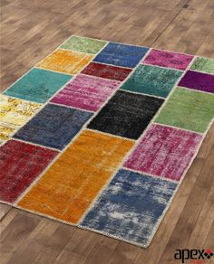 Vintage handmade patchwork rug Multi Colour by Apexcarpets on Etsy, $599.00