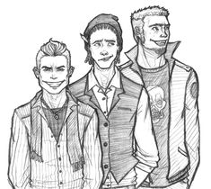 Adults... in case you didnt make the connection haha Anyway heres Eddy, Edd (Double D) and Ed in their late 20's Maybe 30 Eddy likes to try and look cool and fashionable. Edd has cornrows... I drew...