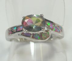 Awesome Mystic Topaz and Opal ring