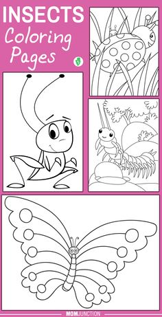 Top 10 Insects Coloring Pages Your Little Ones will Love To Color:Kids love filling colors in the black and white diagrams of insects. This article features the realistic and cartoon form of different types of insects. These coloring sheets will serve as an important tool for education and creative development.