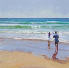 "Marcia Burtt ""Arrival""  acrylic on canvas, 24 x 24 inches, $4,200"