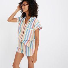 Bedtime Pajama Shirt in Stripe : pajamas | Madewell