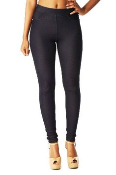 Emma's Mode Junior Skinny Fit Soft Knit Legging Jegging Pants