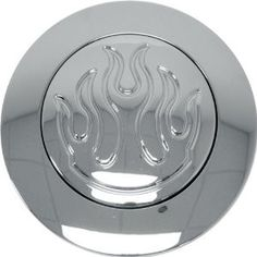 Chrome Flamed Horn Button for 9 Hole Steering Wheels