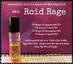 Thyroid rollerball  - I only use doTerra's high-quality essential oils.  You can contact me or get them here: http://www.mydoterra.com/carriestrayer/