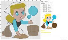 Chibi Cinderella pattern by Monica