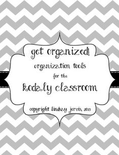 Blueberry Chevron Binder Covers: Organize Your Kodaly by Grade ...
