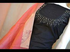 To customize, whatsapp 9043230015 for Saree, Blouse and Kurtis Churidar Neck Designs, Sari Blouse Designs, Salwar Designs, Kurta Designs Women, Dress Neck Designs, Designs For Dresses, Hand Embroidery Dress, Embroidery Neck Designs, Kurtha Designs