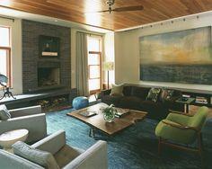 Maisonette: Jolie Goodnight's Blog: {Vermont Resdience) #livingroom #MadMen