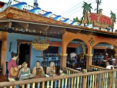 The Hub, Siesta Key Village. Sarasota, FL. Great spot for lunch & dinner - or just drinks. Live music.