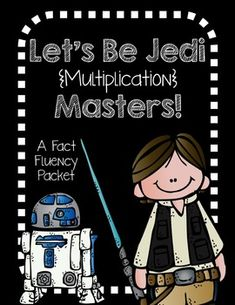 Fun, engaging multiplication fact fluency packet---Star Wars themed!