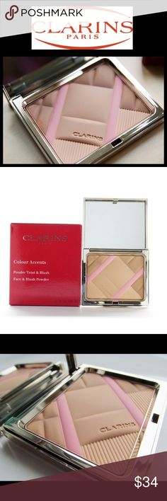Clarins Colour Accents Face & Blush Powder 5 ⭐️️s!!! Limited Edition and no longer available! A soft, ultra-fine powder to beautifully enhance the complexion. A comfortable texture that smoothes and evens with long-lasting results.  Brand new in box with velvet pouch.  Receipt to buyer, authenticity guaranteed!  💐 bundle for up to 10% discount💐  non- smoking home!  You won't want to stop once you start using this!!  💋💋Amy Clarins Makeup Face Powder