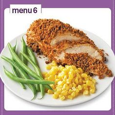 23 Easy Plate Method Dinners | Diabetic Living Online Panko crusted chicken, green beans, corn