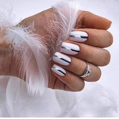 56 Beautiful Natural Square Nails Design For Short Nails - Square Nail Designs, French Nail Designs, White Nail Designs, Long Gel Nails, Gel Nails At Home, Short Nails, Latest Nail Designs, Short Nail Designs, Design Ongles Courts