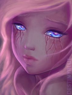 If tears left scars... by DestinyBlue on Deviantart.  I love the concept and the art is well done too!