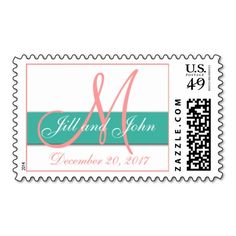 >>>Order          Monogram Wedding Postage Stamps Coral Turquoise           Monogram Wedding Postage Stamps Coral Turquoise lowest price for you. In addition you can compare price with another store and read helpful reviews. BuyDeals          Monogram Wedding Postage Stamps Coral Turquoise ...Cleck Hot Deals >>> http://www.zazzle.com/monogram_wedding_postage_stamps_coral_turquoise-172445914268183985?rf=238627982471231924&zbar=1&tc=terrest
