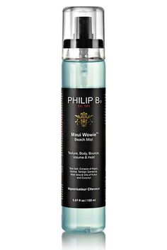 """""""Salt sprays can be really harsh on the hair,"""" Abergel says. """"That is why you have to find ones that are not heavy on the salt and have great combinations between salt and oil."""" He recommends this one from Philip B. #refinery29 http://www.refinery29.com/secret-best-beauty-products#slide-21"""