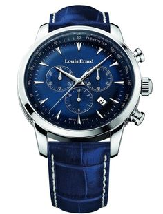 Louis Erard Heritage Collection Swiss Quartz Blue Dial Men's Watch