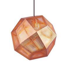 Modernist Tetris Pendant Light Copper