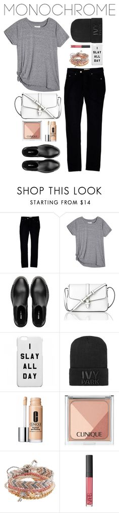 """Monochrome"" by angiegdurant on Polyvore featuring Étoile Isabel Marant, Miu Miu, L.K.Bennett, Ivy Park, Clinique, Aéropostale and NARS Cosmetics"