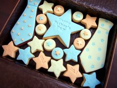Father's day cookies - ties and stars