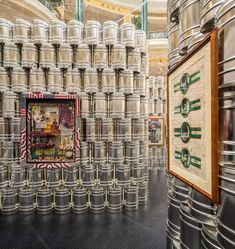 andy warhol - icons   psaier artworks and the factory at the andy warhol temporary museum by LIKEarchitects in lisbon