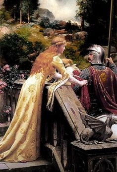 Interesting to compare this alternative version in terms of the background detail. Edmund Blair Leighton