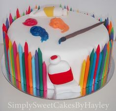 Art #cake, perfect for #arts b-day party!