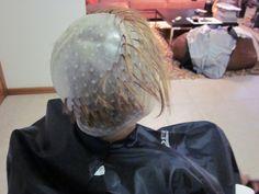 TR.OD Hair Highlighting Cap Plastic Hook Hair Dye Tools Hairdresser Accessories