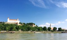 Saying goodbye to Bratislava as I hydrofoil up the Danube.