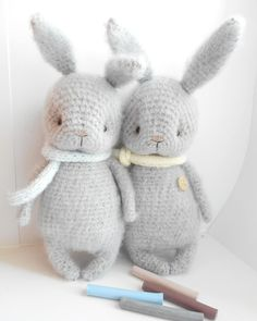 Crochet Loop, Cute Crochet, Crochet For Kids, Crochet Dolls, Crochet Animal Patterns, Stuffed Animal Patterns, Amigurumi Patterns, Knitted Bunnies, Knitted Animals