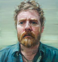 "Colin Davidson..........."".Portrait of Glen Hansard"",  2010 oil on linen 127 x 117 cm"