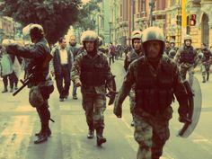 La represión policial comenzó [Foto: Candy Castro / Spacio Libre]