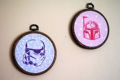 a Storm Trooper and Boba Fett, the perfect mixture of girly and geeky