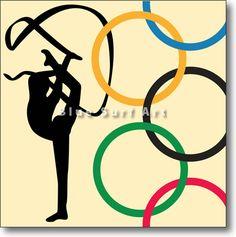 rhythmic gymnastics olympics poster