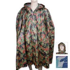 BudK Swiss Camo Wet Weather Poncho - http://www.campingandsleepingbags.com/budk-swiss-camo-wet-weather-poncho/