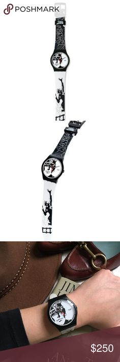 "RARE Limited Edition Swatch Italian Corto Maltese Worn once and only increasing in value! True collector's item. This 2007 Fall collection limited edition Swatch embodies the adventurous spirit of Italian artist Hugo Pratt's cartoon hero - the dashing Corto Maltese - and is one of only 11,111 issued worldwide. Formally known as ""19° South, 169° West,"" this watch has a Quartz Swiss face and a plastic resin band. Total length: 10"" (adjustable from 6.75"" to 9""). Bring some CHARACTER to your…"