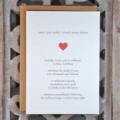 Invitations de mariage. Mariage invite. Invitations de mariage rustique. Invitations de mariage de coeur - Sweetheart sur Etsy, $2.89 CAD