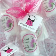 Need bridal shower favor ideas? Pamper your bridal shower guests (and the bride) with Bridal Shower Lotion favors. Available in new Blushing Bride fragrance as well as all of our other popular scents, our lotions contain no mineral oil, parabens, or artificial colors, just skin-loving ingredients like aloe vera and shea butter.
