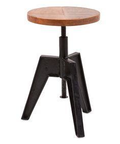 Loving this Adjustable Screw Accent Stool on #zulily! #zulilyfinds