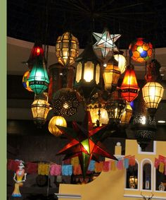 Mexican tin star chandelier if i could have this i would die happy lighting fixture the colors of mexico aloadofball Choice Image