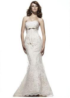 Strapless Fishtail Elegant Wedding Dress