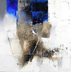 Dimension Plus - Ocean in a jar I - Hyun Jou Lee - Atelier D Art, Lee Hyun, Mix Media, Les Oeuvres, Abstract Art, Applique, Illustration Art, Palette, Ocean