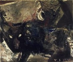 Clayton S. Price (American, 1874-1950). Wolves, 1944. Oil on paperboard panel, 26 x 30 in.  (66.0 x 76.2 cm). Brooklyn Museum, Gift of the Edith and Milton Lowenthal Foundation, Inc., 76.71. © artist or artist's estate