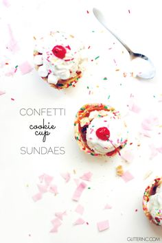 Confetti Cookie Cup Ice Cream Sundaes, 5 Years, and News