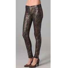 J Brand 901 Golden Snake Print Jeans $242.00